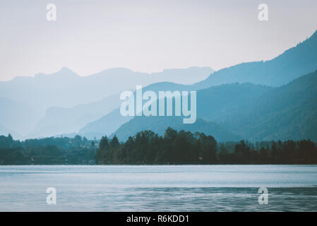 Early morning in mountains before sunrise - Stock Image