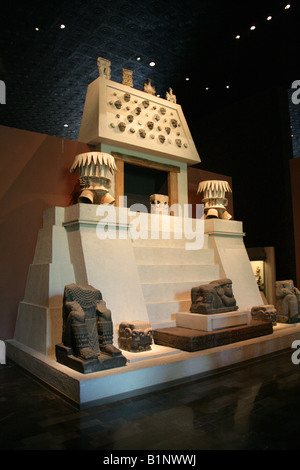 Model Reconstruction of a Mexican Pre Hispanic Sacrificial Alter, National Museum of Anthropology, Chapultepec Park, - Stock Image