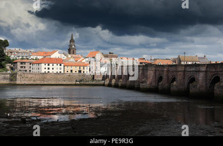 Berwick upon Tweed, England's most northerly town which changed hands thirteen times between England and Scotland - Stock Image