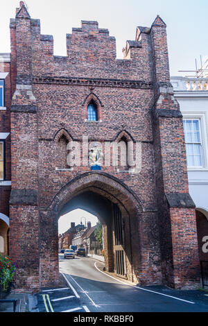 North Bar, 15th. century town gate, Beverley, East Riding, Yorkshire, England - Stock Image