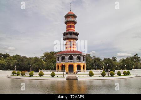 Sages Lookout at Bang Pa-In Palace, Ayutthaya, Thailand. - Stock Image