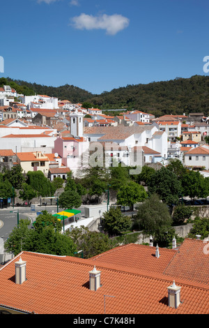 Portugal, Algarve, Monchique, View over Town - Stock Image