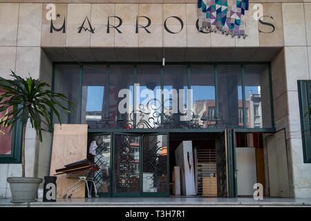 Cine Marrocos entrance, Republica, Sao Paulo, Brazil - Stock Image