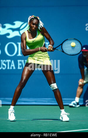Venus Williams (USA) competing at the 1998 US OpenTennis Championship. - Stock Image