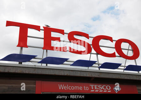Tesco store in Stirling, UK - Stock Image