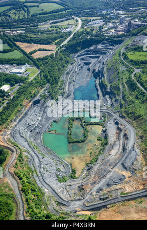 Aerial View Of Quarry, Pennsylvania, USA - Stock Image