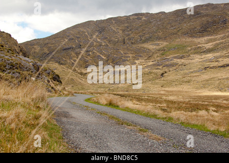 Lonesome Road #32.  A deserted road through the mountains - Stock Image