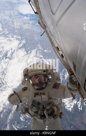 ISS-53 EVA-2 (a) Mark Vande Hei - Stock Image