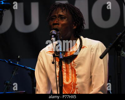 Montreal, Canada. Noubi performs at the Montreal International Jazz Festival. - Stock Image