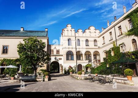 Castolovice Castle, Courtyard, Czech Republic, Europe - Stock Image