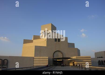 Museum of Islamic Art, designed by architect I.M, Pei, Doha, Qatar - Stock Image