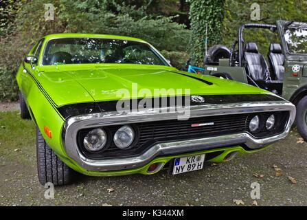 Plymouth GTX, Small vintage car show, Germany - Stock Image