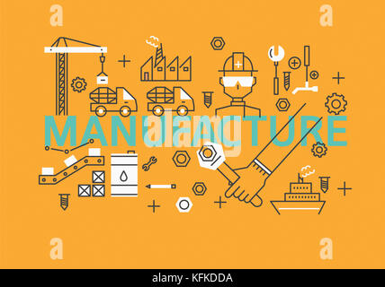 Infographic illustration related to MANUFACTURE - Stock Image