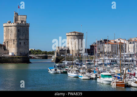 La Rochelle on the coast of the Poitou-Charentes region of France. - Stock Image