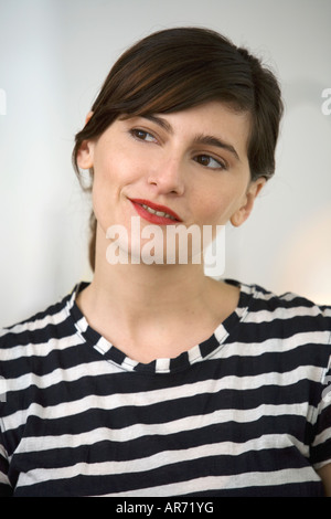 Woman thinking - Stock Image