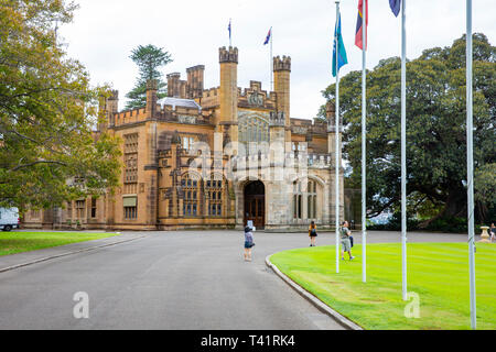 Government house in Sydney city centre, heritage listed home to the Governor of New South Wales,Australia - Stock Image
