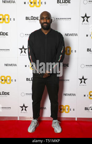 '90 Minutes' Launch Event hosted by executive producer Rio Ferdinand and director Simon Baker to celebrate the digital download and DVD release on 1 April  Featuring: Vauxhall Jermaine Where: London, United Kingdom When: 19 Mar 2019 Credit: PinPep/WENN.com - Stock Image