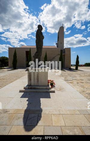 Franjo Tudjman statue Dalmatia Croatia - Stock Image