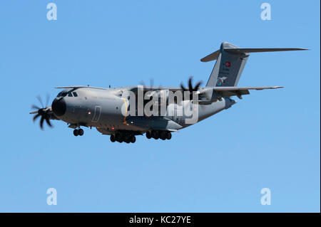 Airbus A400M Atlas heavy military turboprop transport plane of the Turkish Air Force - Stock Image
