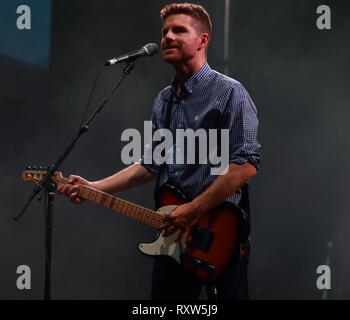 Montreal, Canada. Vincent Valliere on stage at the Francos de Montreal  French music festival in downtown Montreal - Stock Image