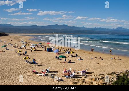 south africa garden route Plettenberg Bay beach - Stock Image