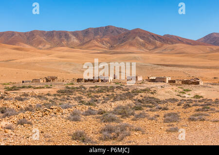 Countyside at Fuerteventura on Canary Islands - Spain. - Stock Image