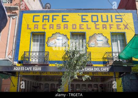 Cafe Equis Mexico City - Stock Image