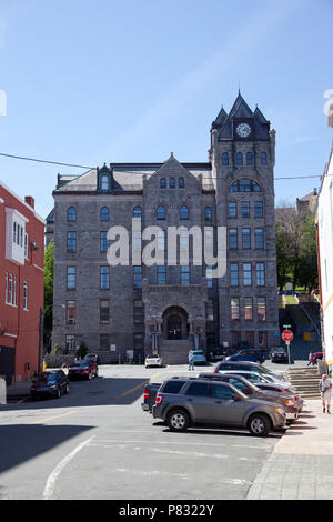 June 23, 2018- St. Johns, Newfoundland: The Courthouse in the city's capital on Water Street - Stock Image
