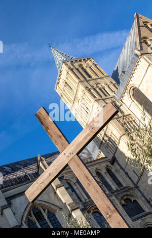 Canterbury Cathedral in Kent England - Stock Image