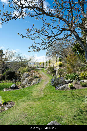 Gardens at Government House in Victoria, BC, Canada, in the Spring. - Stock Image