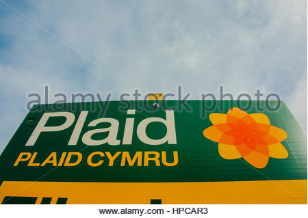 Aberystwyth, Mid Wales,UK. 28th April 2016. Local election banners in mid Wales, prior to next weeks local elections - Stock Image