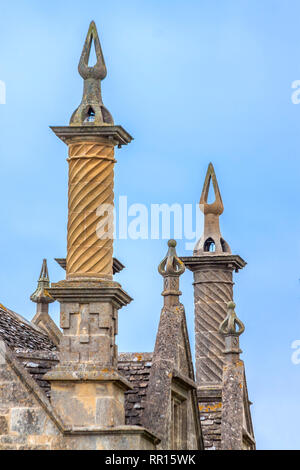 Chimneys In  Chipping Campden, Gloucestershire, England, UK - Stock Image