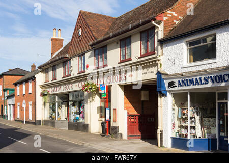 Caxtons Interiors, independent soft furnishings and DIY store on Salisbury Road in the small town of Fordingbridge, - Stock Image