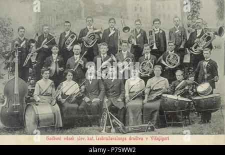 149 Jožef Erjavec - Godbeni odsek kat. izobraževalnega društva v Višnji gori - Stock Image