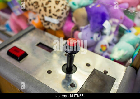 control stick on arcade machine - Stock Image