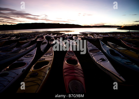 kayaks in orust arcipelago - Stock Image