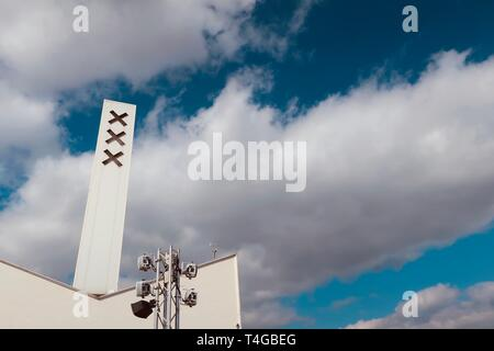 Amsterdam, Netherlands - April 2019; At the top of the A'Dam lookout. - Stock Image