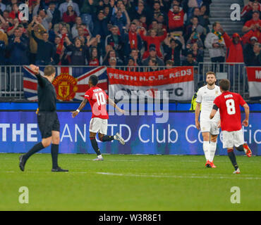 Optus Stadium, Burswood, Perth, W Australia. 17th July 2019. Manchester United versus Leeds United; pre-season tour; Marcus Rashford of Manchester United celebrates a goal in the 27th minute to make it 2-0 to Manchester United Credit: Action Plus Sports Images/Alamy Live News - Stock Image