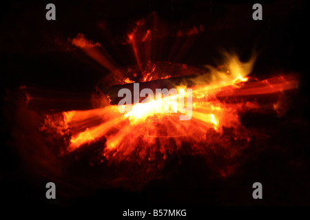 USA A campfire will keep you warm at night - Stock Image