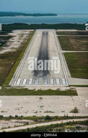 Landing Approach to Key West International Airport - Stock Image