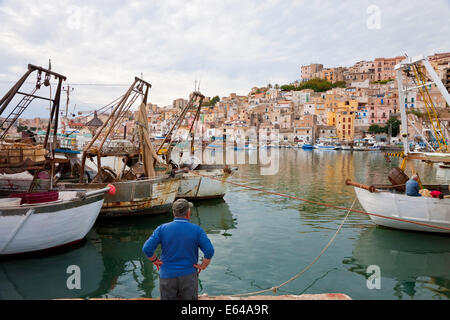 Harbour, Sciacca, Sicily, Italy - Stock Image