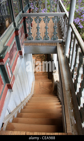 A Part of the Queen's Palace Complex, Antananarivo, Madagascar. Stairway. - Stock Image