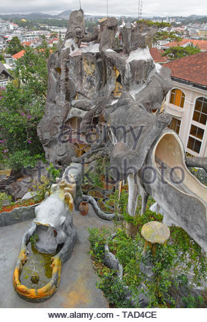Dalat, Vietnam - December 24th 2017. The Crazy House or Hang Nga, a tourist attraction in Dalat. This fairytale style house was built as a personal pr - Stock Image