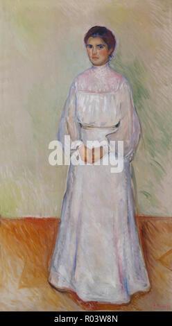 Portrait of Ellen Warburg, Edvard Munch, 1905, Zurich Kunsthaus, Zurich, Switzerland, Europe - Stock Image