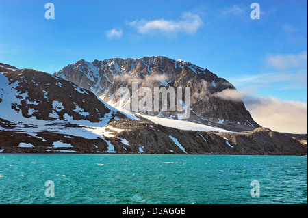 Spitsbergen Island is in the arctic north of Norway. - Stock Image
