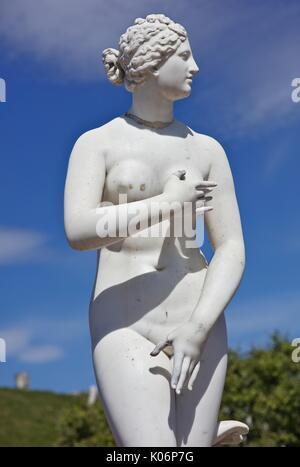 Figures in Peterhof, St. Petersburg, Russia - Stock Image
