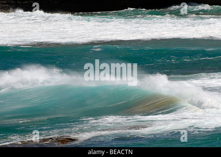 Waves of the Southern Ocean off Coorong National Park, South Australia - Stock Image