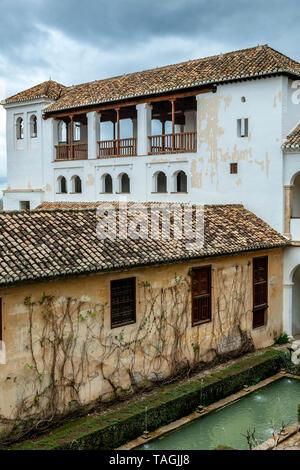 El Generalife, The Alhambra, Granada, Spain - Stock Image