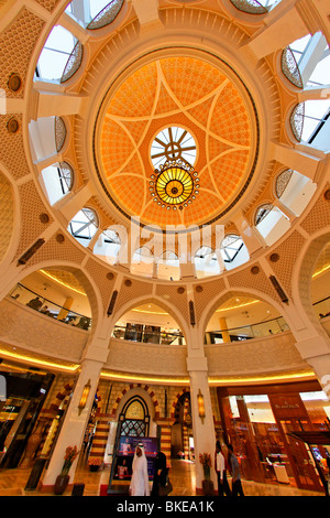 Arabian dome in Dubai Mall next to Burj Khalifa , biggest shopping mall in the world with more than 1200 shops, - Stock Image