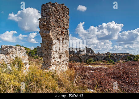 Turkey Side Remains Of City Wall - Stock Image
